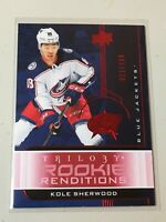 F37147 2019-20 Trilogy Rookie Renditions /799 KOLE SHERWOOD Blue Jackets