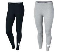 Womens Nike Gym Leggings Sports Training Running Swoosh Leggins Bottoms Black