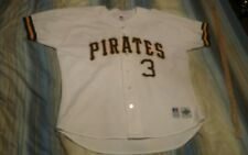 JAY BELL 3 PITTSBURGH PIRATES AUTHENTIC BASEBALL JERSEY sz 48 signed autogrpahed