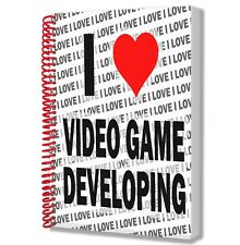 I Love Video Game Developing - A5 Notebook Pad Drawings Birthday Christmas Gift