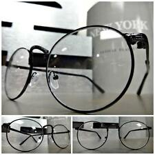 CLASSIC VINTAGE RETRO Style Clear Lens EYE GLASSES Small Oval Wire Fashion Frame
