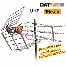 ANTENNA TV UHF DIGITALE TERRESTRE CON ALTO GUADAGNO PER RICEZIONI DIFFICILI