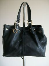LOVELY BLACK LARGE LEATHER TOTE HANDBAG BY OROTON ,  EX CONDITION