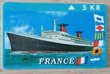 carte TLEPHONE PAQUEBOT FRANCE -  PHONE CARD SS FRANCE