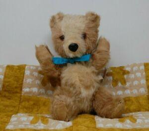 Popple    Very Cute c1950's Chiltern Teddy - Old Vintage Bear Pram Toy w/ label