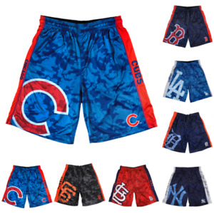 MLB Baseball Mens Team Logo Big Logo Polyester Shorts - Pick Team