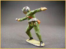 BF soldat  Allemand a la bombe WWI, plomb creux (antique toys)