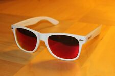 Midwest Shades FRANK THE TANK White Red AMERICAN EXCLUSIVE Sunglasses UK Seller