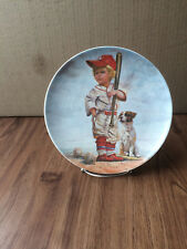 """""""The Big Leaguer"""" Baseball Plate by Gregory Perillo Collectors"""