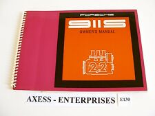 1970 Porsche Classic 911 S 911S Owner Manual Operator Instructions Book # E130