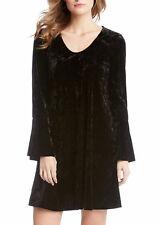 NEW  Karen Kane Plus Size Velvet Bell Sleeve Black Dress 2X Retail $138