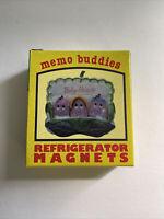 Baby Raisins Refrigerator Magnets Memo Buddies 4 Piece Set Vintage 1980s Giftco