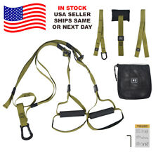 ARMY GREEN Home Gym Suspension Straps Strength Training Strap Workout Trainer