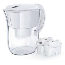 Water Pitcher Jug (3.8 L) with 2 Filters,Bpa Free, 10 Cup, White | Us Shipping