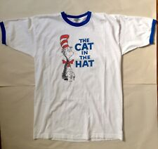 Vintage Dr Seuss Cat In The Hat Ringer T Shirt - Made in USA Large