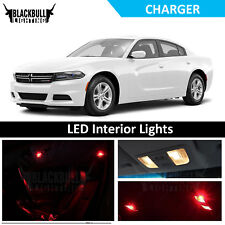 RED Interior Lights Package Accessories Kit fits 2015-2018 Dodge Charger 11 bulb