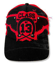 """GREEN DAY """"PATCH"""" STUDDED BLACK/RED MESH TRUCKERS CAP HAT NEW OFFICIAL OSFM"""