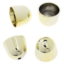 Big gold acrylic bead caps, end tip  - 6 pcs