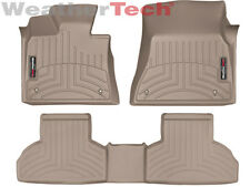 WeatherTech Custom Car Floor Mat FloorLiner for BMW X5/X6 - 1st/2nd Row - Tan