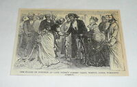 1876 magazine engraving ~ SULTAN OF ZANZIBAR, Lady Frere, UK