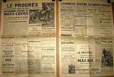 MOTO - CROSS : Programme officiel ; butte du polygone à  Valence  le 14 mai 1953