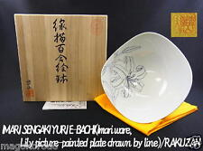 o4894,Imari ware, Takuo Yamamoto, the lily picture bowl drawn by the line.