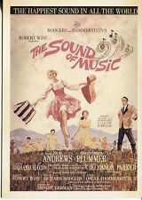 PICTURE POST CARD OF AN OLD MOVIE POSTER  THE SOUND OF MUSIC  WITH JULIE ANDREWS