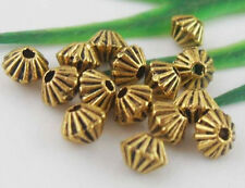 Free Ship 130Pcs Gold Tibetan Silver Spacer Beads Findings 5x4.5mm
