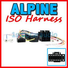 ISO WIRING HARNESS for ALPINE CDA-137EBT CDA137EBT cable connector lead plug