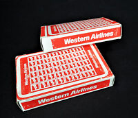 2 Decks Western Airlines Deck Playing Cards Vtg 80s Taiwan