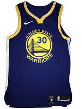 Nike Golden State Warriors Stephen Curry Authentic Jersey Size 48 Av2643 496