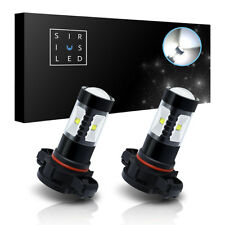SiriusLED 2 Pack H16 LED Fog Light Bulbs 6000K White High Power 30W 600 Lumens