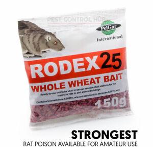 Rat and Mouse Killer Poison Grain Bait Strong Poisen Sachet Kills Mice Rats Trap