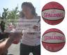Sue Bird Seattle Storm UConn USA Signed Pink WNBA Basketball Proof Beckett BAS