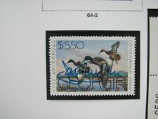F2050 GA 1986 MALLARD STAMP SIGNED BY ARTIST JIM KILLEN
