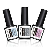 LEMOOC Nail Top Coat & Base Coat Gel Polish Soak Off Matte Gel UV/LED