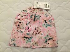 New H&M Baby Girl Frozen Elsa Butterfly Beanie Cap Hat Pink Warm Winter 2-4 Yrs