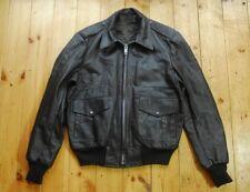 Vintage en cuir marron USAF style veste de vol A-2 42/44 très bon état