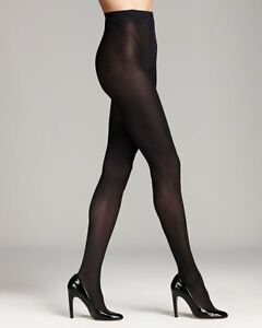 DKNY Fashion Tights Sz S Midnight Blue Menswear Diagonal Tight 60 Denier 0B691
