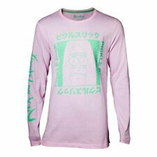 RICK AND MORTY JAPAN PICKLE LONG SLEEVE SHIRT MALE XX LARGE PINK LS708685RMT-2XL