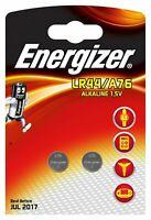 10x Energizer LR44/A76 AG13 Knopfzelle 1,5 V (2er Blister)