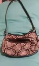 EUC Women's Merona Black/White Small Hobo Bag Purse Handbag w/Pockets