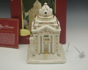 LENOX MISTLETOE PARK 2008 BANK NEW IN BOX LIGHTED CHRISTMAS