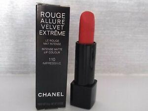 CHANEL   Rouge Allure Velvet Extreme Matte    Shade  110 Impressive BRAND NEW