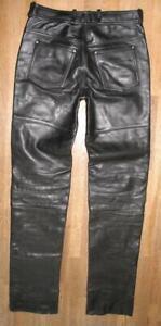 """ Hein Gericke Red Zipper "" Motorrad- Leather Jeans Black Size 44M About W30 "" /"