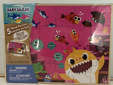 5 WOOD PUZZLES BABYSHARK  IN original factory packaging. has no wear or tea.