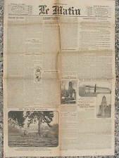 LE MATIN (29/12/1914) Réparons nos ruines - Occupation allemande