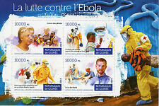 Guinea 2015 MNH Fight Against Ebola 4v M/S Medical Health Red Cross