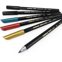 Edding 1255 Calligrafia Penne 2.0/5.0mm + 1200 Fibra Oro, Argento, Verde, Rosso