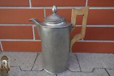 1,5 Ltr. alte Zinnkanne Historismus Holzgriff England Zinn 1,2 kg